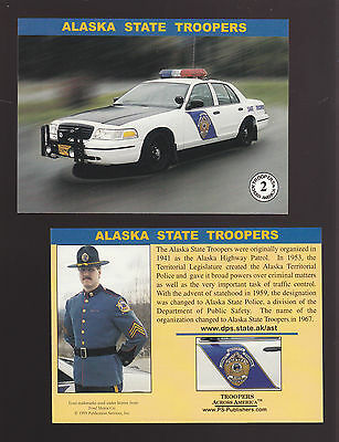 ALASKA STATE TROOPERS Police Ford Squad Car Highway Patrol 1999 TRADING CARD