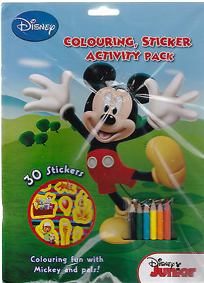 Disney Junior Colouring and Activity Sticker Book Pack - Ideal Party Bag