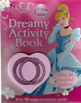 Disney Princess Dreamy Sticker Activity Book with Bracelets and over 30 Stickers