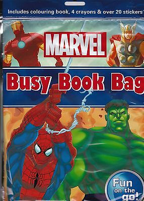 Marvel Colouring Book (Activity Bag) - Stickers and Crayons  - Ideal Party Bag