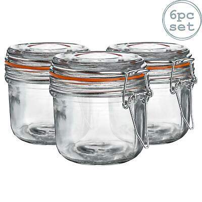 Glass Storage / Food Preserve Preserving Clip Top Jar - 200ml - x6