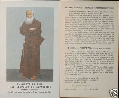 Old Blessed Leopold Of Alpandeire Holy Card Capuchin Andachtsbild Santini Cc613