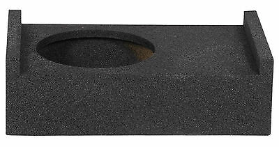 "ROCKVILLE RQT10 10"" Bedliner Sprayed Shallow Sealed Car/Truck Sub Box Enclosure"