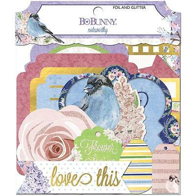 BoBunny Secret Garden Noteworthy Die-Cuts Stanz/ Streuteile 25 St.