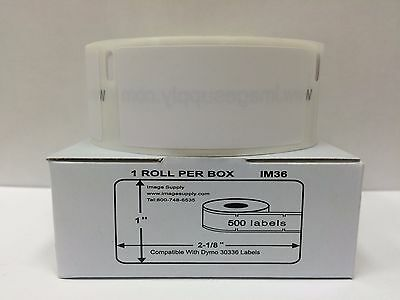 """1 Roll of 500 Multipurpose Labels for DYMO LabelWriters 30336 - 1"""" x 2 1/8"""""""