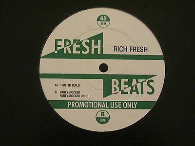 "Rich Fresh ~ Time To Build / Party Rocker ~ 12"" Hip Hop 1988 ~ Grandmaster Flash"