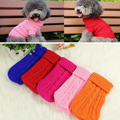 Chien Chat Habillez Hiver Chaud Tricot Pull Tricot Chiot