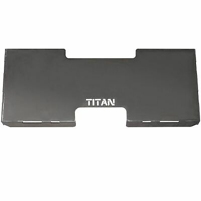 "Titan 3/16"" Steel Quick Attach Attachment Mount Plate Skid Steer Bobcat Kubota"