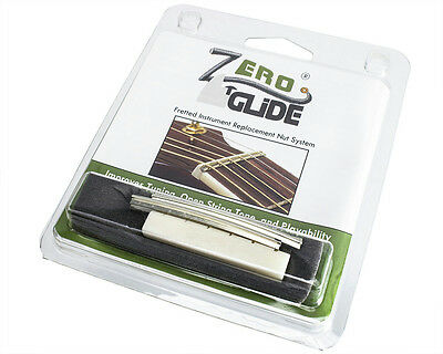 Zero Glide ZS-14 Replacement Nut System for Acoustic Guitars, Slotted 46.5mm