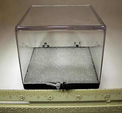 High Quality 2.69 X 2.69 X 2.31 Inch Clear Plastic Hinged Mineral Display Cases!