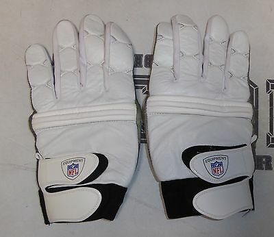 Official Chargers NFL Game Used Nike White Lineman Football Gloves XXXL Line OL