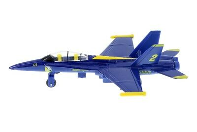 "New 7"" diecast model F/A-18 Hornet US Navy Blue Angels fighter jet PULL BACK"