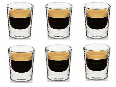 6PCS/Lot Nespresso Double Wall Coffee Glass Mug Cup After Tea Drinking Cup 85ml