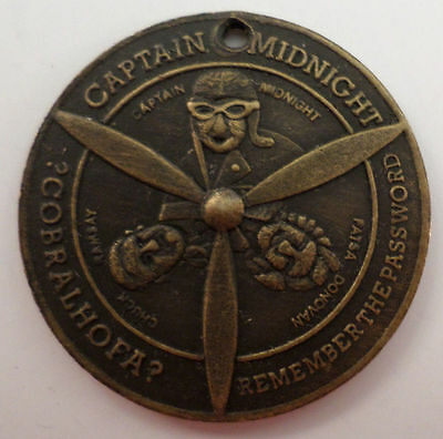 Captain Midnight Flight Patrol Membership Metal Skelly Spinner Key Chain
