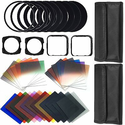 Complete 44 Pcs Full + Graduated Square Color + ND Filter Kit for Cokin P