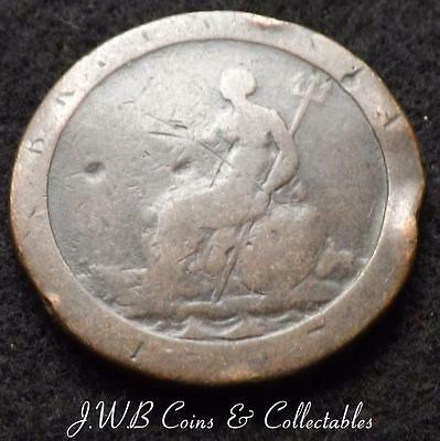 1797 George III Cartwheel 1d One Penny Coin .,