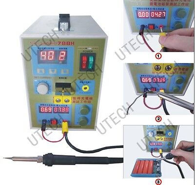 3 in 1 Sunkko 788H,18650 Battery Spot Welder + charger+ w/foot pedal switch 110V