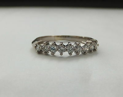 French 18ct White Gold Diamond 0.45ct Half Eternity Ring