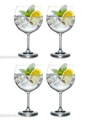 Giant BOHEMIA CRYSTAL MAXIMA Wine gin and tonic Glass 820ml 29 oz XXL -set of 4-