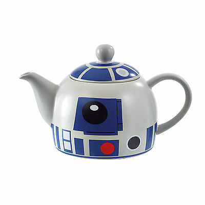 Star Wars Ofiicial R2-D2 Teapot Ceramic Droid Robot White Gift