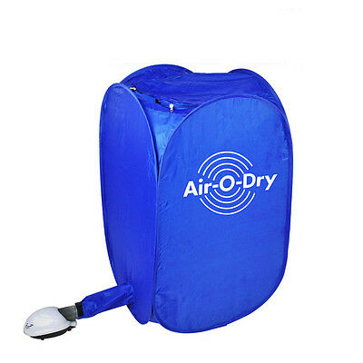 New Portable Air-O-Dry Electric Clothes Dryer Folding Drying Machine Bag Blue