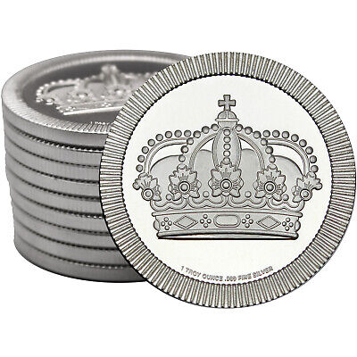 Crown Stackables 1oz .999 Silver Medallion 10pc by SilverTowne
