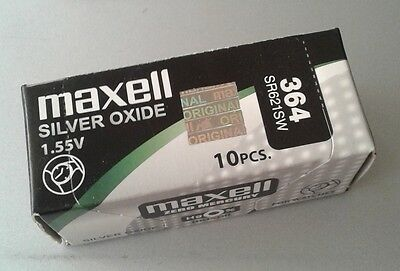 Pila MAXELL 364 - SR621SW - Made In Japan - Original - Caja De 10 Pilas