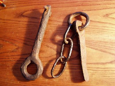 2 Antique Hand Forged Iron Ship wreck finds