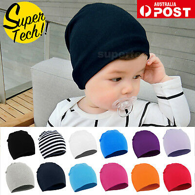 Kids Baby Cotton Beanie Soft Girl Boy Knit Hat Toddler Infant Kid Newborn Cap OZ