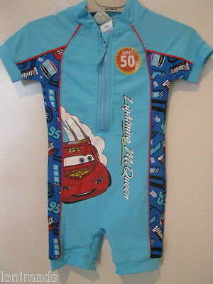 BNWT- CARS Lightning McQueen Baby BOYS Swimwear Bathers Swimsuits 000 1 2 UPF50+