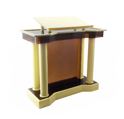 Wood Acrylic Plexiglass Large Deluxe Podium Lectern Pulpit Church School Event
