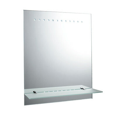 Saxby 61596 - Taro - 1.5W Battery Operated IP44 LED Bathroom Mirror with Shelf