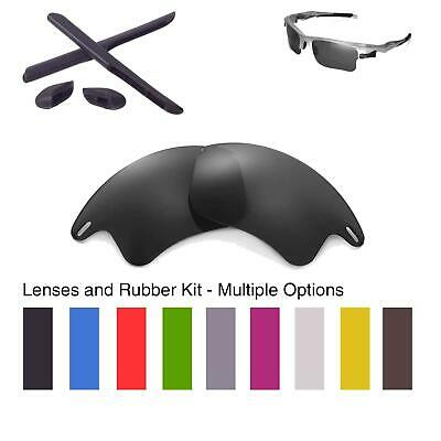 Walleva Lenses and Rubber Kit for Oakley Fast Jacket XL - Multiple Options