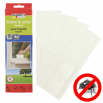 Insect Bug Window Fly Bug Catcher Killer Trap Indoor Transparent Sticker Papers