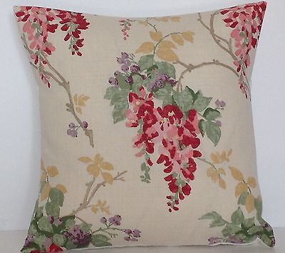 """Laura Ashley Wisteria Cranberry Floral 16"""" Cushion Cover"""