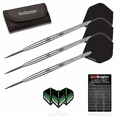 LIGHTNING TUNGSTEN DARTS SET Red Dragon™ Dart Stems, Flights, Case,23g