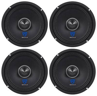 "(4) Rockville RXM64 6.5"" 600w 4 Ohm Mid-Range Drivers Car Speakers, Mid-Bass"