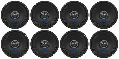 "(8) Rockville RXM64 6.5"" 1200w 4 Ohm Mid-Range Drivers Car Speakers, Mid Bass"