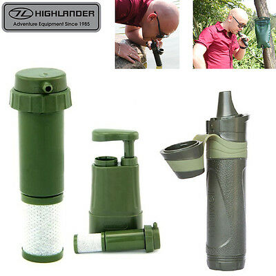 Highlander 1L Miniwell Outdoor Water Purifier Camping Hiking Straw & Bottle