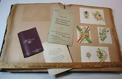 RARE HUGE Folio Salesman Advertising Samples 1897 Cards Menus Dance Programs etc
