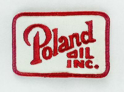"Poland Oil Gas Company Inc*VINTAGE SEW-ON*EMBROIDERED PATCH*3.2"" x 2.2"""