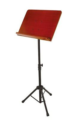 On Stage 7311W Conductor Music Stand With Wooden Bookplate