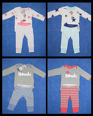 BONDS Baby 2 Piece COTTON Pajamas P.J.s Set Girls or Boys Sizes 000-2 BNWTS