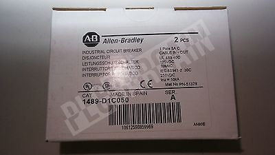 NEW ALLEN BRADLEY CIRCUIT BREAKER 1489-D1C050 5A 125V Two Pcs