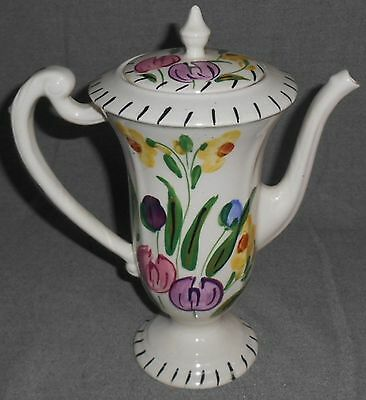 Blue Ridge EASTER PARADE PATTERN Hand Painted CHOCOLATE POT
