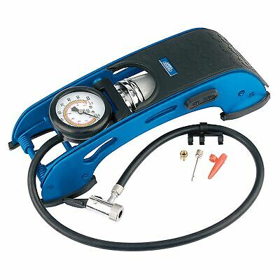 Draper Garage Single Cylinder Foot Pump For Tyres With Lock On Connector - 22267