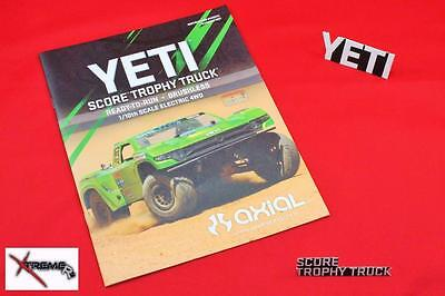 AXIAL YETI Score - AX90050 Instruction Owner Manual With Parts List XtremeRC