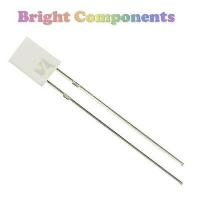 10 x Rectangle Diffused White LED 2x5x7mm - 1st CLASS POST - UK