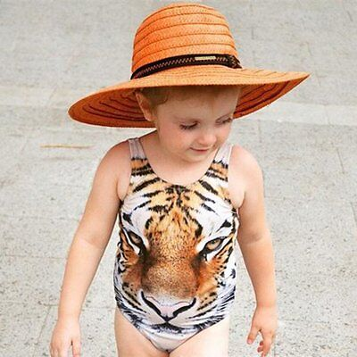 Toddler Baby Girl Kids Tiger Swimsuit Tankini Bikini Swimwear Beach Bathing Suit
