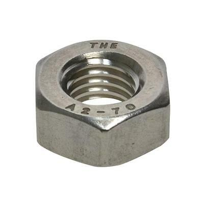 Qty 10 Hex Standard Nut M20 (20mm) Stainless Steel SS 304 A2 70